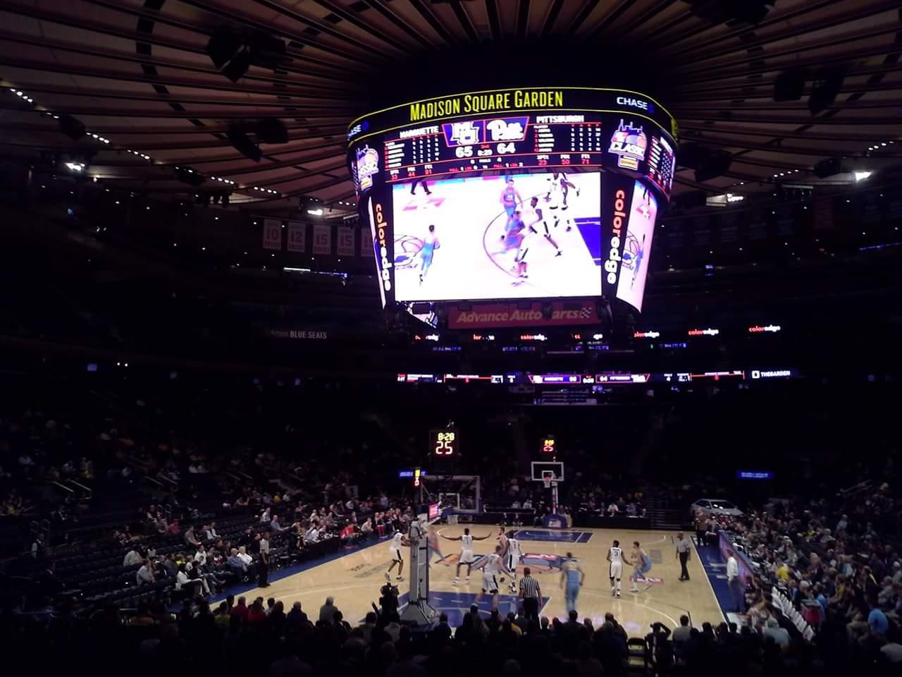 Madison Square Garden Section 103 Row 10 Seat 1