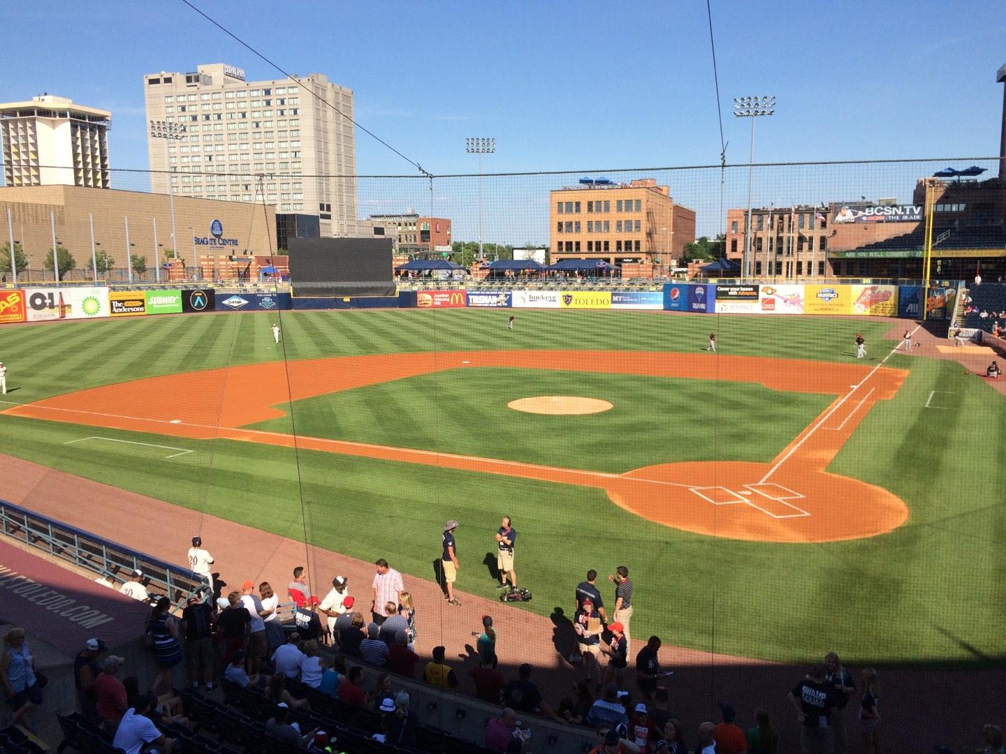 Fifth Third Field Section 207 Row 1 Seat 4