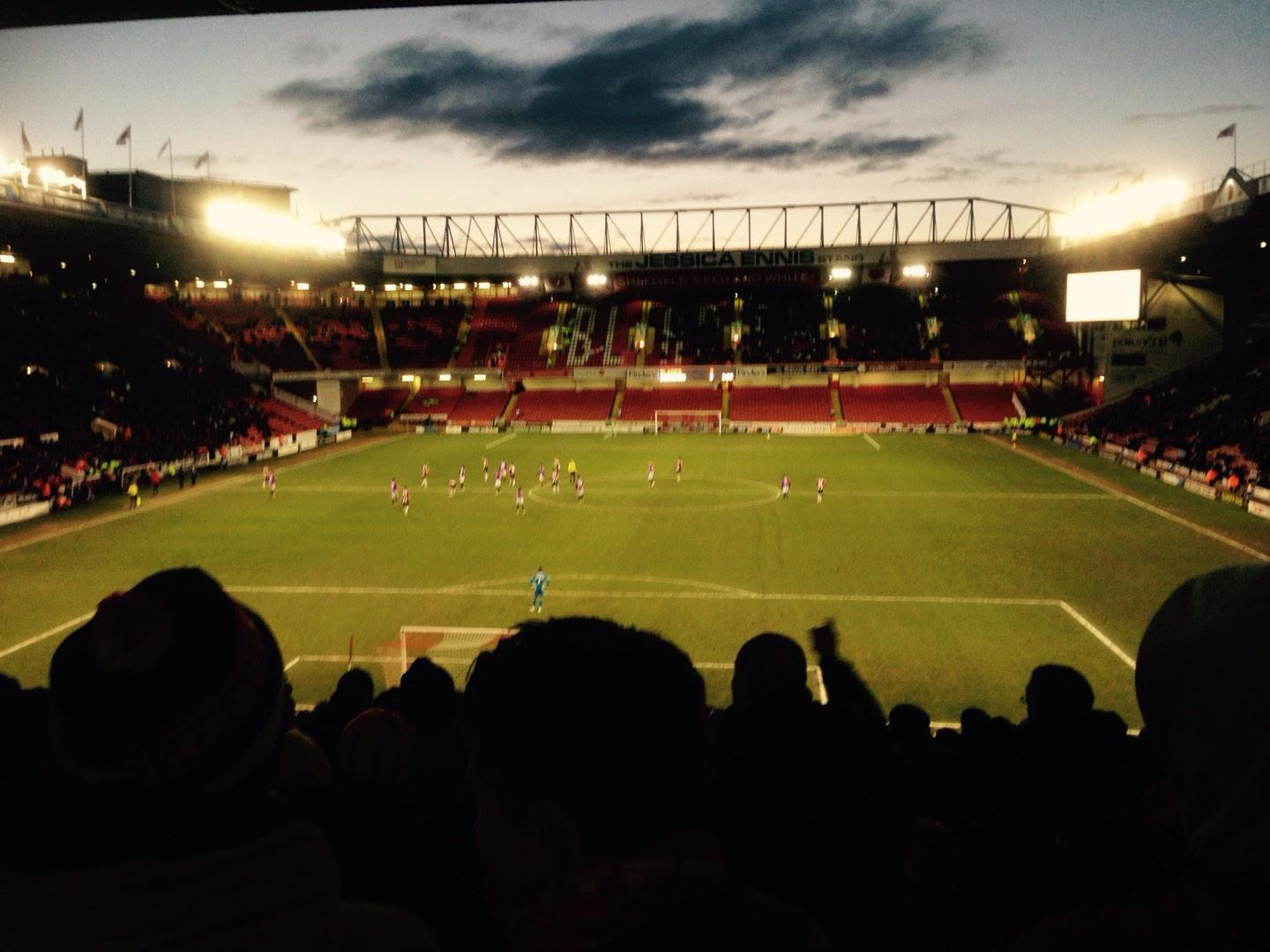 Bramall Lane Section Kop Stand Gangway E Row QQ Seat 119