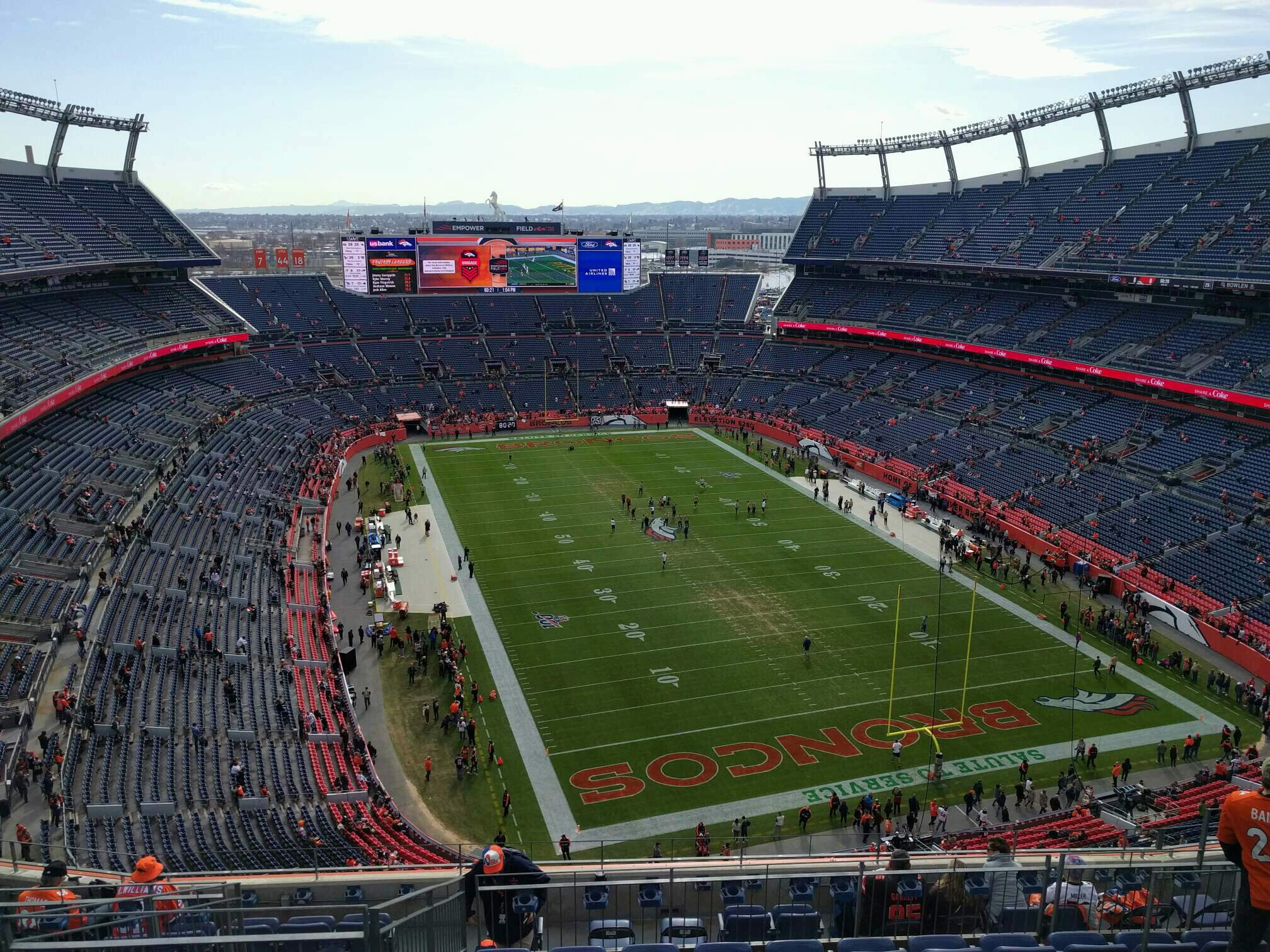 Empower Field at Mile High Stadium Section 524 Row 11 Seat 10