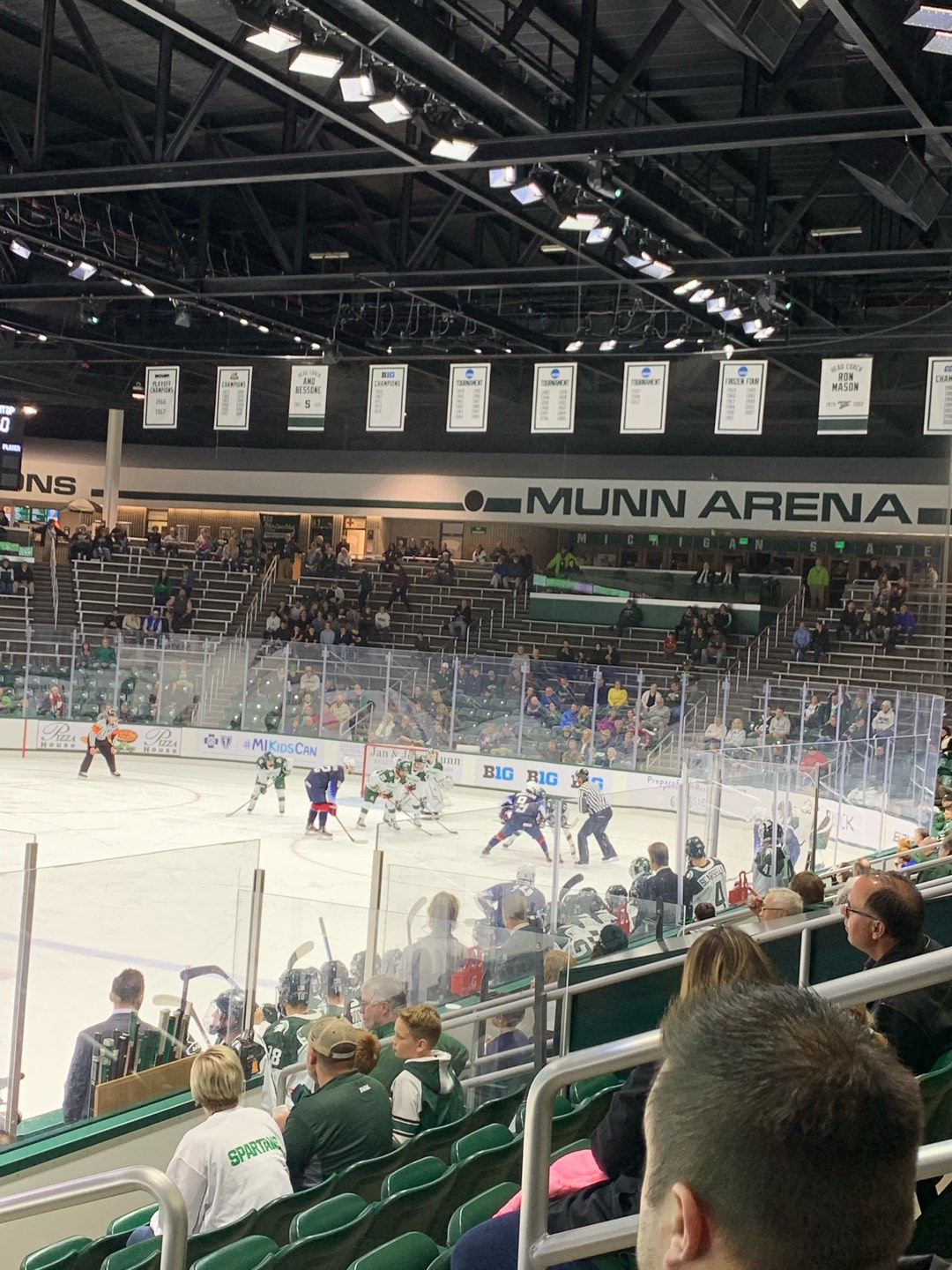 Munn Ice Arena Section V Row 9 Seat 5