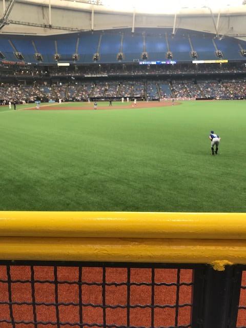 Tropicana Field Section 142 Row 1 Seat 1