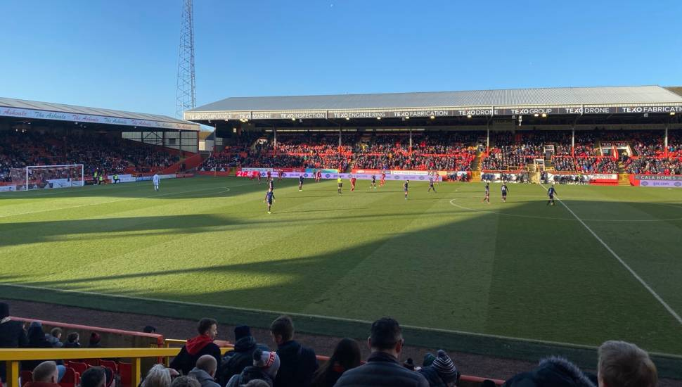 Pittodrie Stadium,  Section <strong>524</strong>, Row <strong>25</strong>, Seat <strong>333</strong>