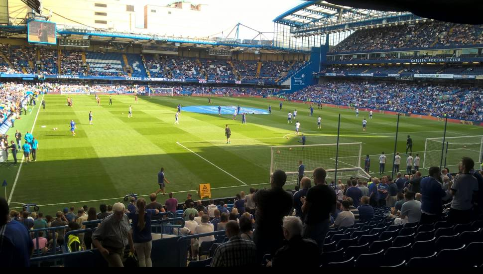 Stamford Bridge,  Section <strong>Away Section Block 46</strong>, Row <strong>LL</strong>, Seat <strong>1192</strong>