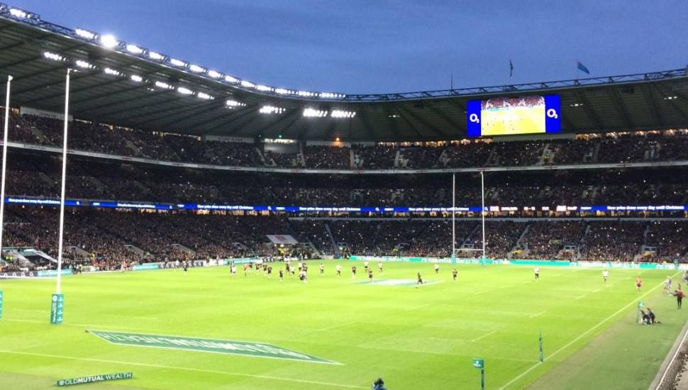 Twickenham Stadium,  Section <strong>A1</strong>, Row <strong>TT</strong>, Seat <strong>11</strong>