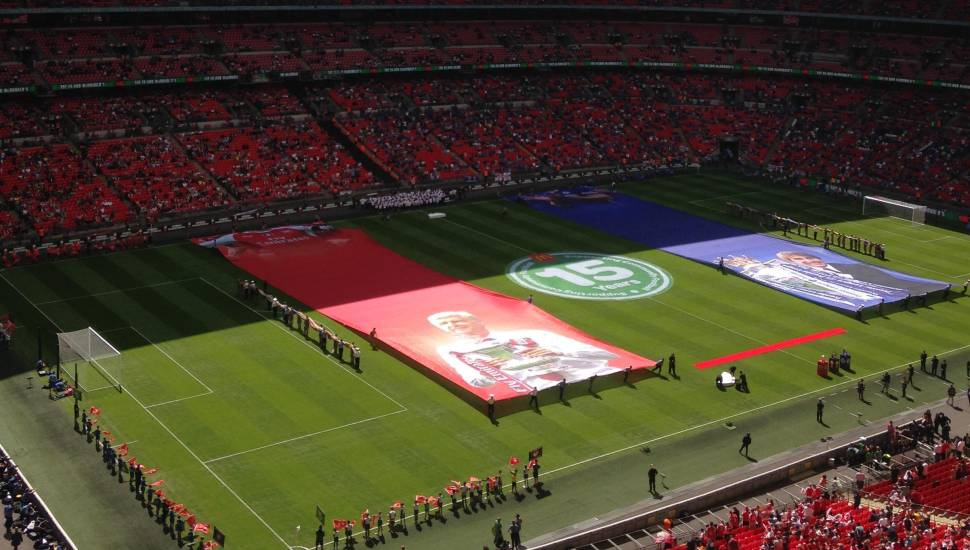 Wembley Stadium,  Section <strong>Main Stand Front</strong>, Row <strong>C</strong>
