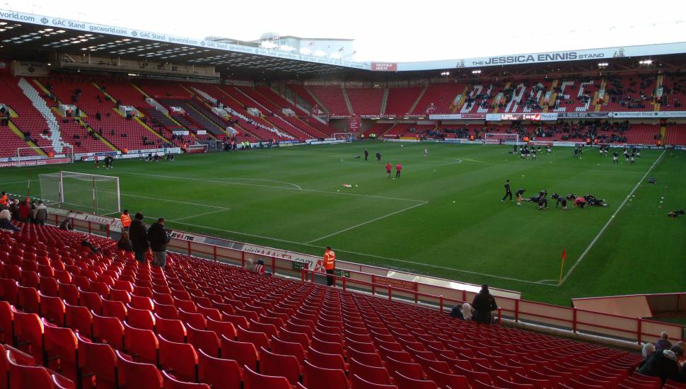 Bramall Lane,  Section <strong>1</strong>, Row <strong>H</strong>, Seat <strong>13</strong>