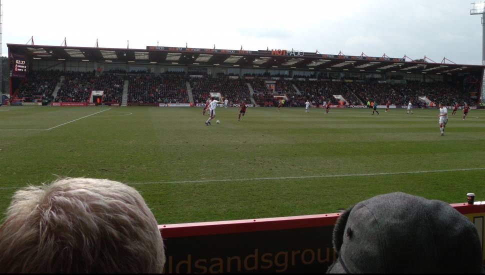 Dean Court,  Section <strong>Kop Stand Gangway E</strong>, Row <strong>QQ</strong>, Seat <strong>119</strong>