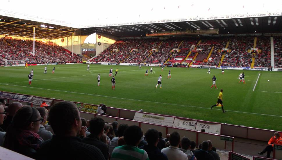 Bramall Lane,  Section <strong>Field</strong>, Row <strong>Red Zone</strong>