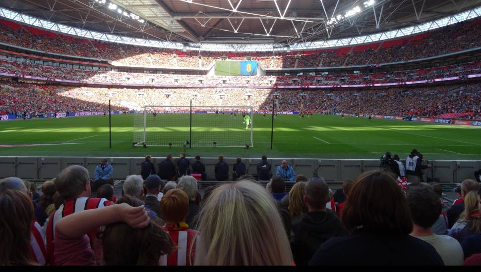 Wembley Stadium,  Section <strong>44</strong>, Row <strong>4</strong>, Seat <strong>148</strong>