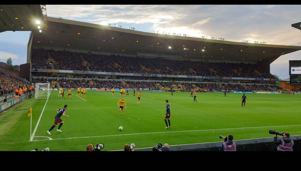 Molineux Stadium,  Section <strong>318</strong>, Row <strong>GG</strong>, Seat <strong>494</strong>