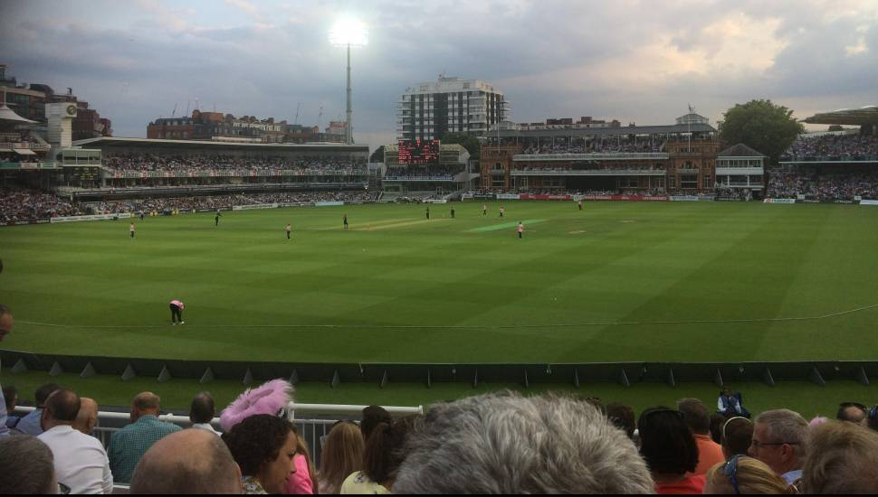 Lord's Cricket Ground,  Section <strong>UV1</strong>, Row <strong>L</strong>, Seat <strong>0044</strong>