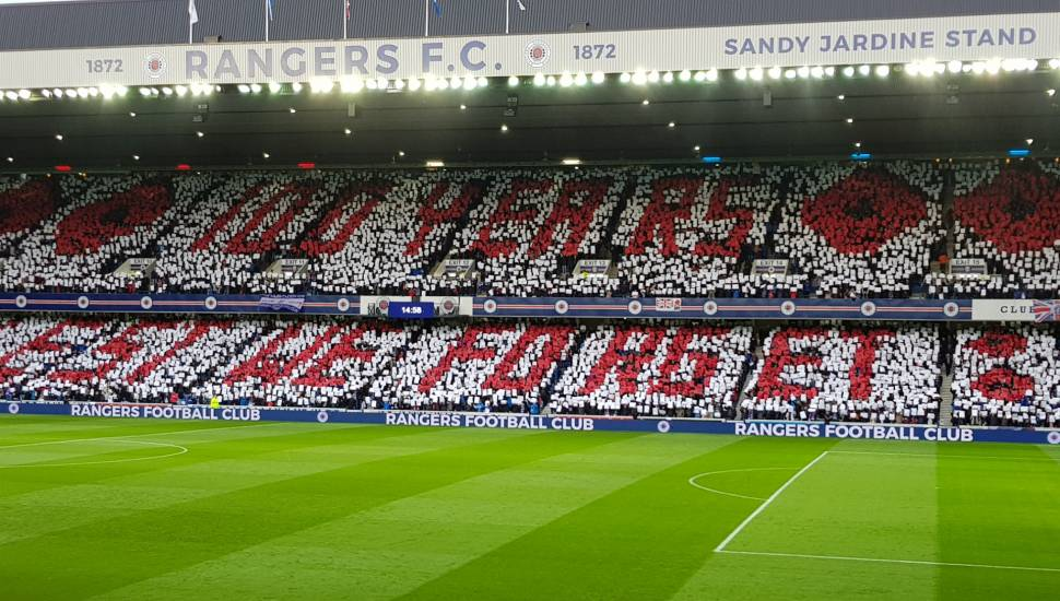 Ibrox Stadium ,  Section <strong>North Stand</strong>, Row <strong>T</strong>