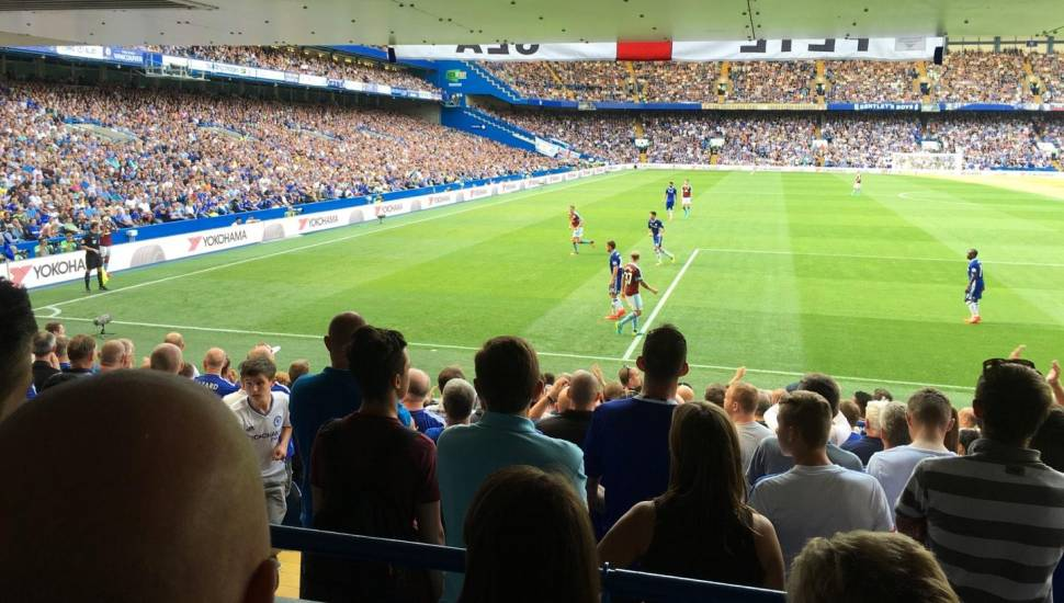 Stamford Bridge,  Section <strong>Paddock</strong>, Row <strong>B</strong>, Seat <strong>222</strong>