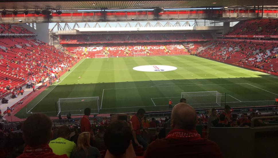 Anfield,  Section <strong>VRS2</strong>, Row <strong>Q</strong>, Seat <strong>71</strong>
