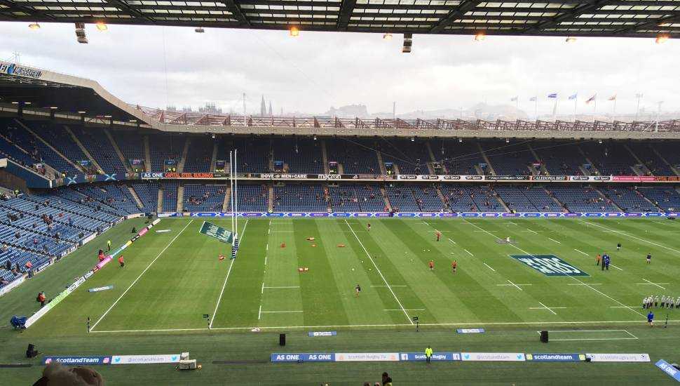 Murrayfield Stadium,  Section <strong>North Stand</strong>, Row <strong>CC</strong>