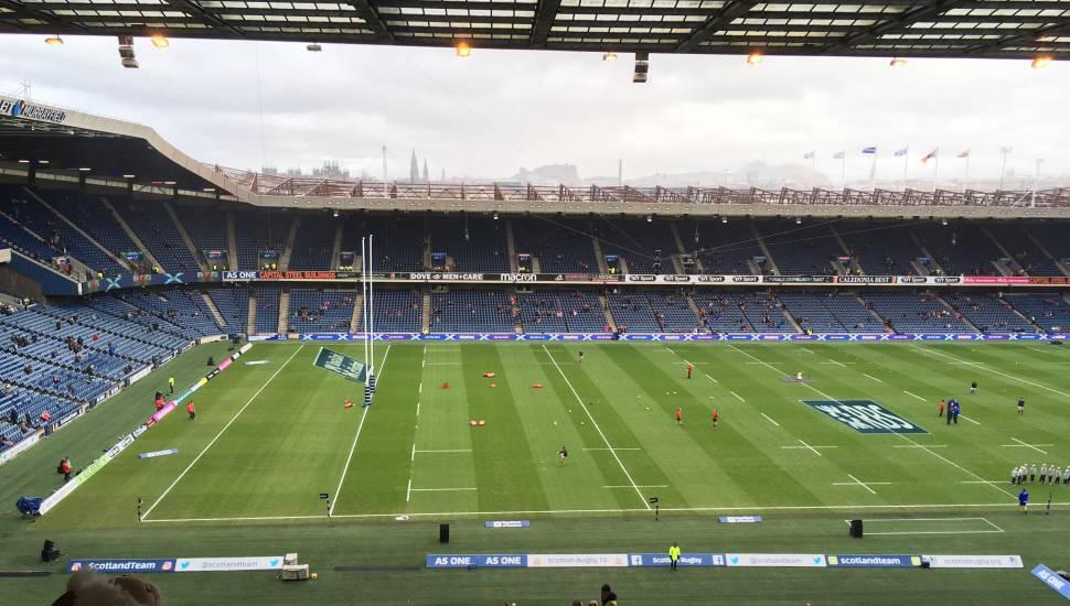 Murrayfield Stadium,  Section <strong>U</strong>, Row <strong>18</strong>, Seat <strong>88</strong>
