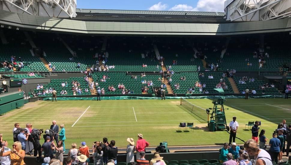 Wimbledon, Centre Court,  Section <strong>SK3</strong>, Row <strong>FF</strong>, Seat <strong>97</strong>