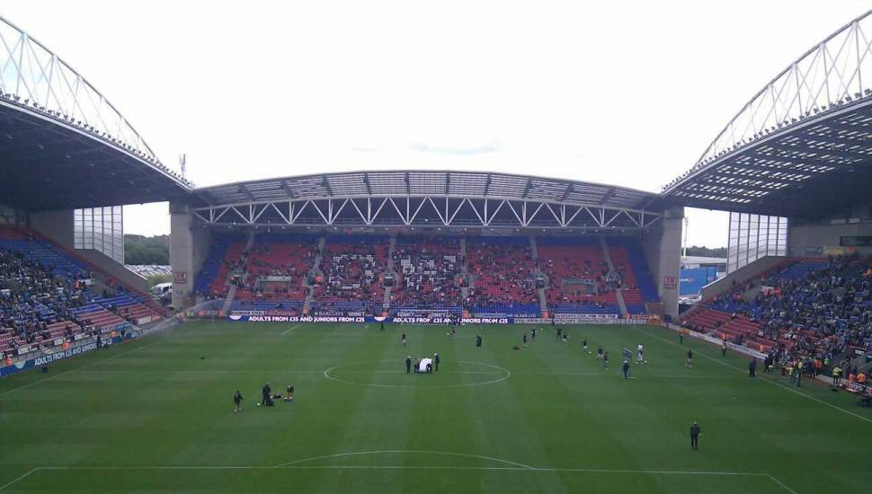 DW Stadium,  Section <strong>318</strong>, Row <strong>GG</strong>, Seat <strong>494</strong>