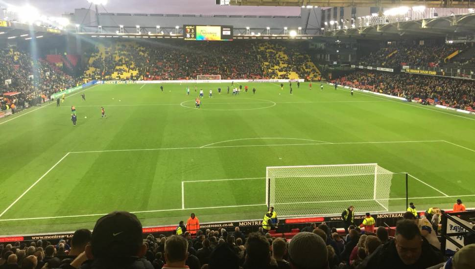 Vicarage Road,  Section <strong>L28</strong>, Row <strong>15</strong>, Seat <strong>14</strong>