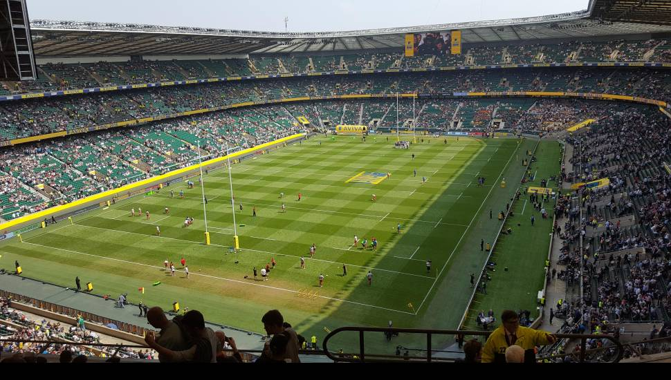 Twickenham Stadium,  Section <strong>Shed End Lower 5</strong>, Row <strong>15</strong>, Seat <strong>145</strong>