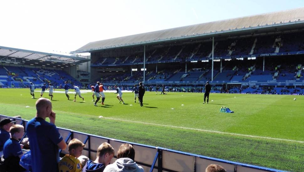 Goodison Park,  Section <strong>Dress Circle</strong>, Row <strong>B</strong>, Seat <strong>30</strong>