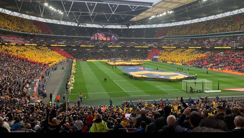 Wembley Stadium,  Section <strong>Shed End Lower 5</strong>, Row <strong>15</strong>, Seat <strong>145</strong>