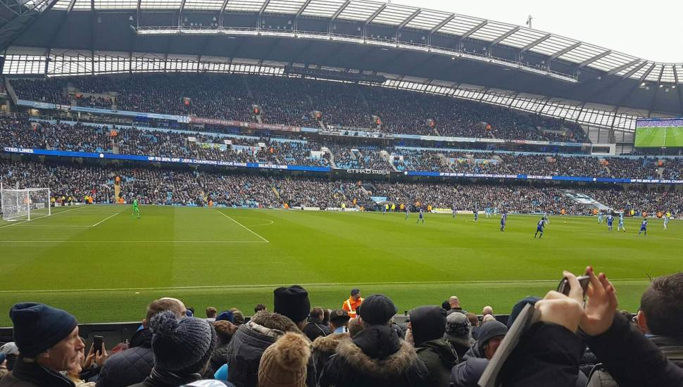 Etihad Stadium (Manchester),  Section <strong>The Shed End lower</strong>, Row <strong>15</strong>, Seat <strong>79</strong>