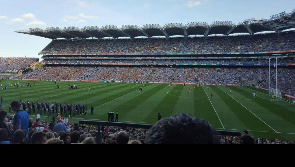 Croke Park,  Section <strong>Main Stand Front</strong>, Row <strong>C</strong>