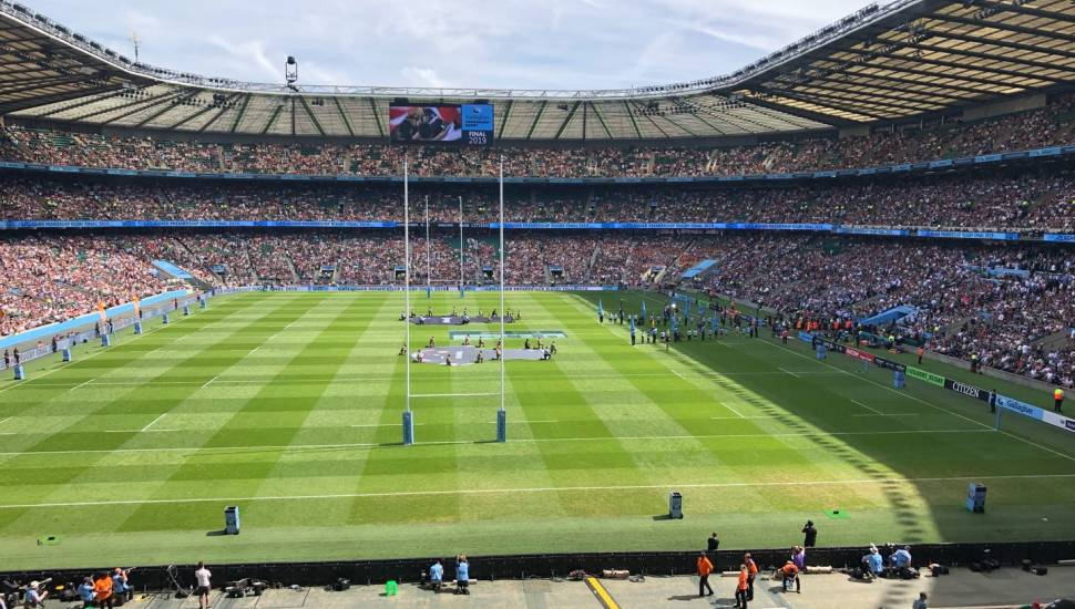 Twickenham Stadium,  Section <strong>Main Stand Front</strong>, Row <strong>C</strong>
