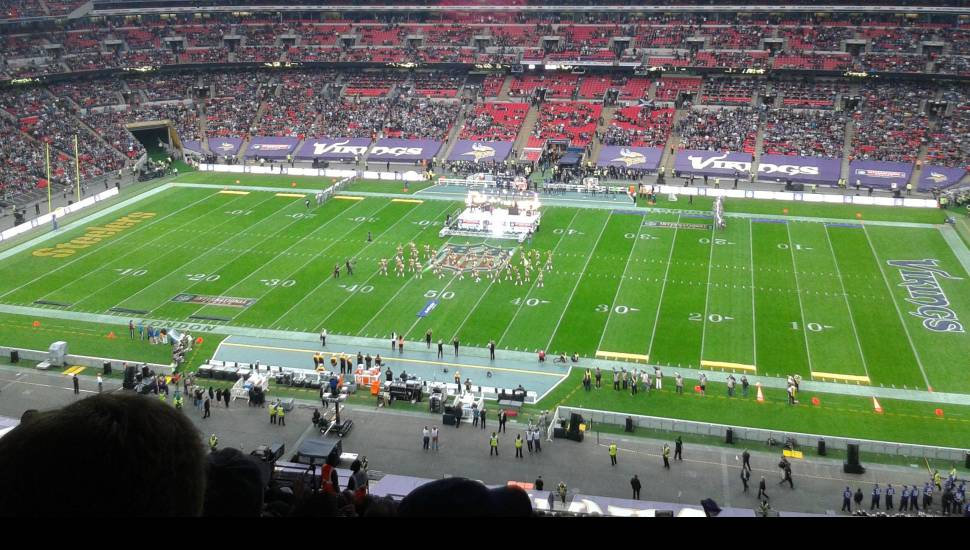 Wembley Stadium,  Section <strong>The Shed</strong>, Row <strong>Stand</strong>, Seat <strong>Stand</strong>