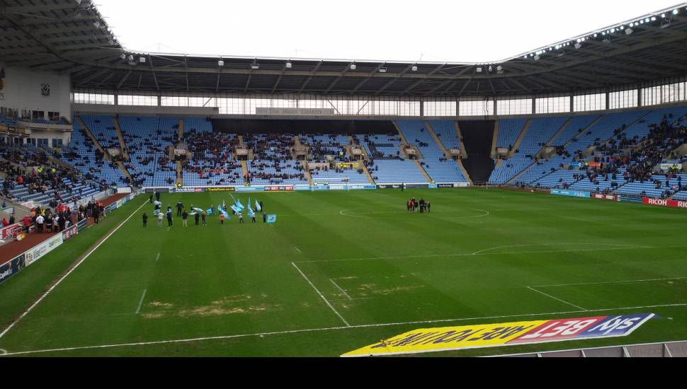 Ricoh Arena,  Section <strong>C</strong>, Row <strong>F</strong>, Seat <strong>063</strong>