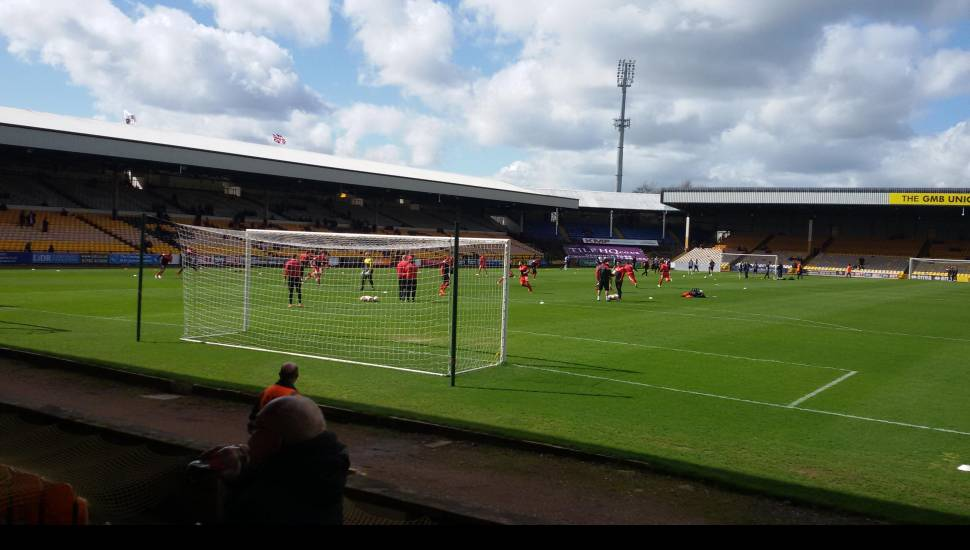 Vale Park,  Section <strong>South Stand</strong>