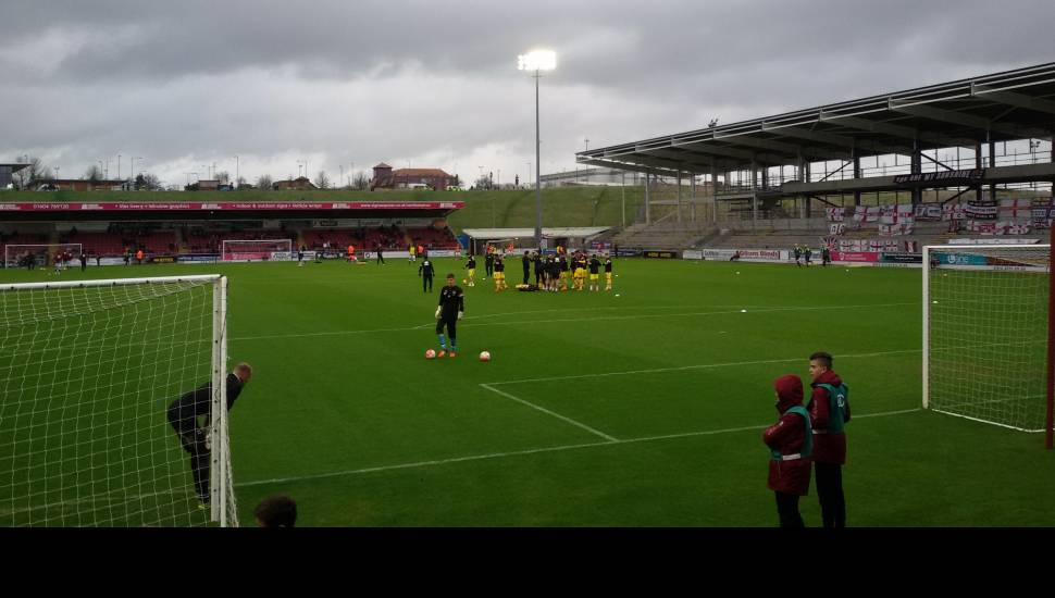 Sixfields Stadium,  Section <strong>N1407</strong>, Row <strong>BB</strong>, Seat <strong>55</strong>