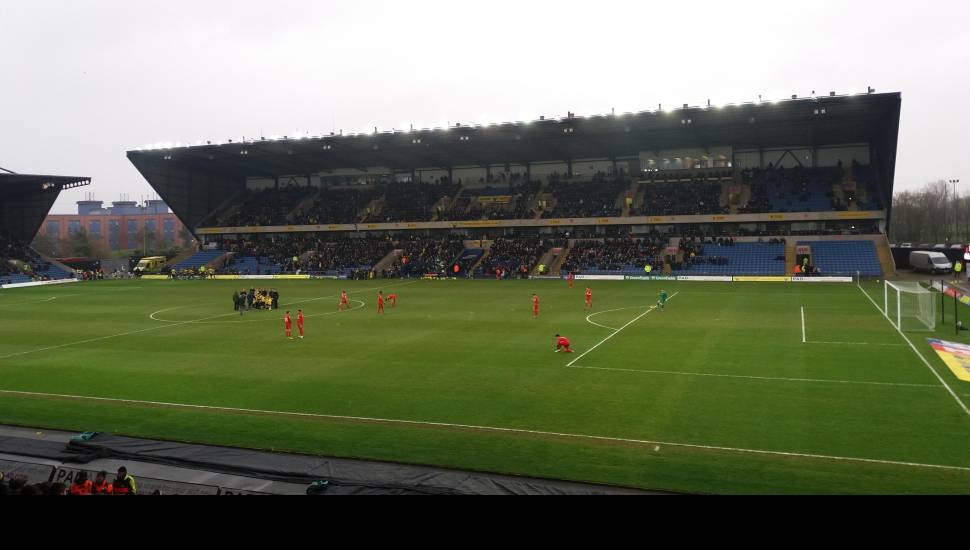Kassam Stadium,  Section <strong>Crompton Upper Stand Block 17</strong>, Row <strong>J</strong>, Seat <strong>87</strong>