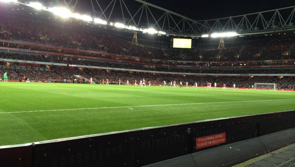 Emirates Stadium,  Section <strong>1</strong>, Row <strong>H</strong>, Seat <strong>13</strong>