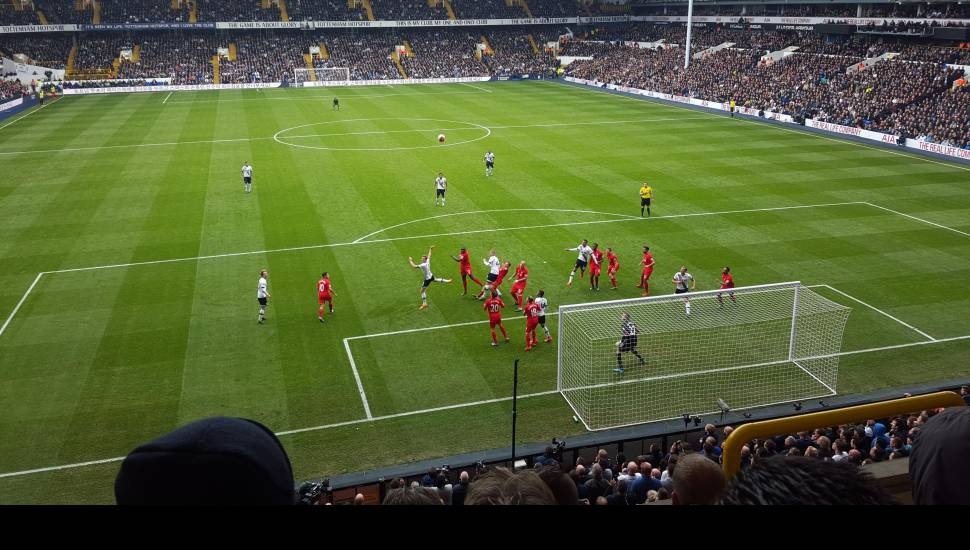 White hart Lane,  Section <strong>North Stand</strong>, Row <strong>T</strong>