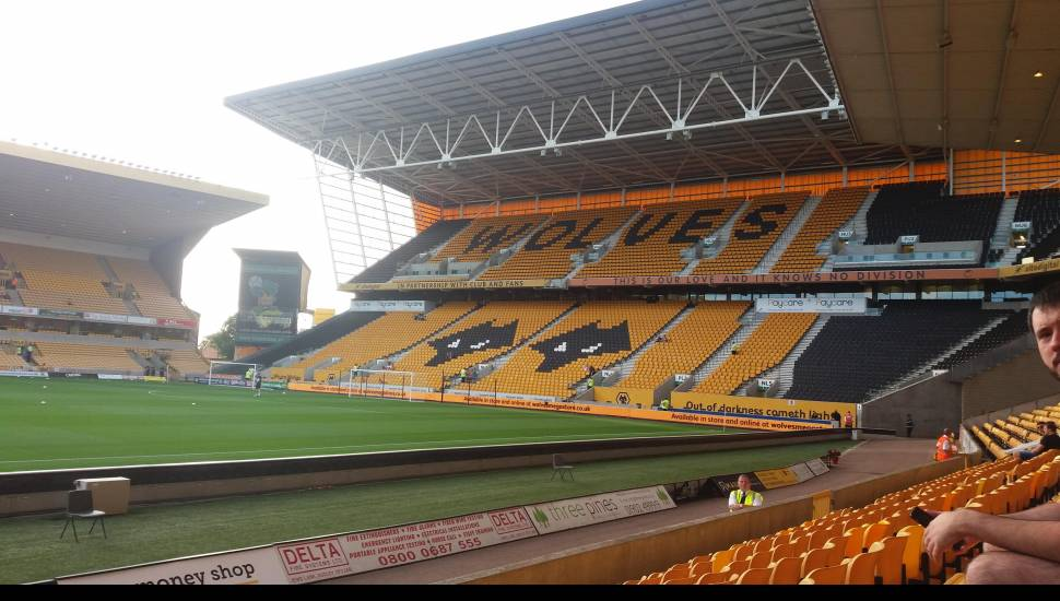 Molineux Stadium,  Section <strong>Matthew Harding Lower 15</strong>, Row <strong>CC</strong>, Seat <strong>148</strong>
