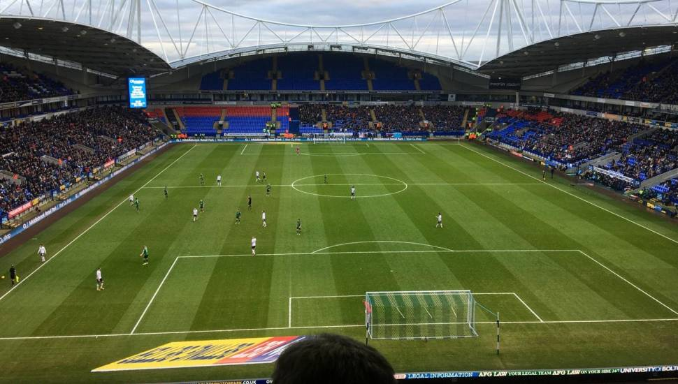 University of Bolton Stadium,  Section <strong>T3</strong>, Row <strong>L</strong>, Seat <strong>83</strong>