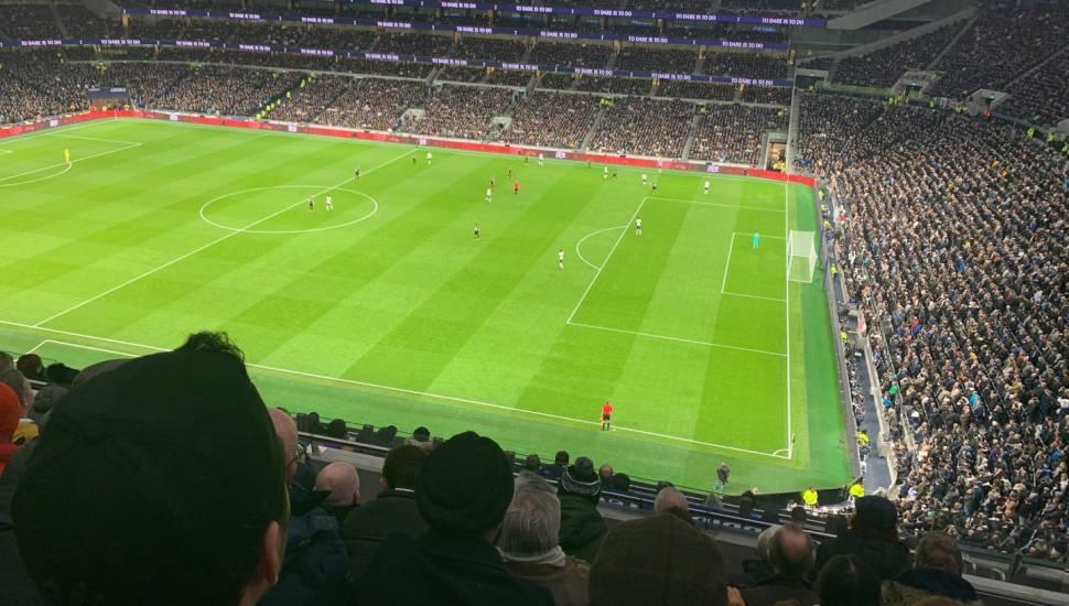 Tottenham Hotspur Stadium,  Section <strong>E132</strong>, Row <strong>CC</strong>, Seat <strong>20</strong>