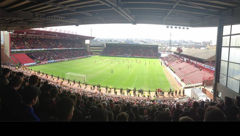Oakwell Stadium,  Section <strong>The Shed</strong>, Row <strong>Stand</strong>, Seat <strong>Stand</strong>