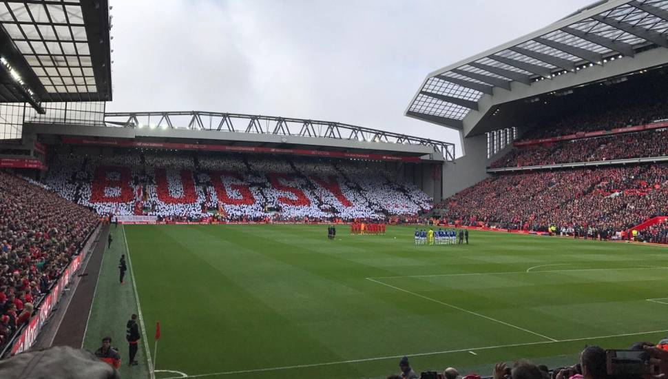 Anfield,  Section <strong>SK3</strong>, Row <strong>FF</strong>, Seat <strong>97</strong>