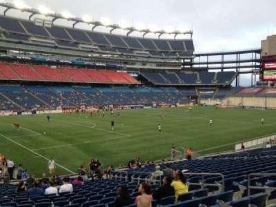 Gillette Stadium, section: 137, row: 22, seat: 10