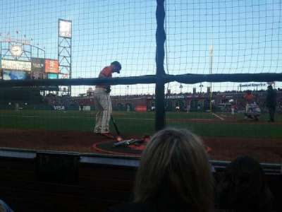 AT&T Park, section: DC 119, row: CCC, seat: 9