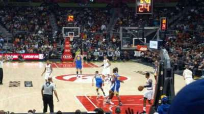 Philips Arena, section: 110, row: B, seat: 10