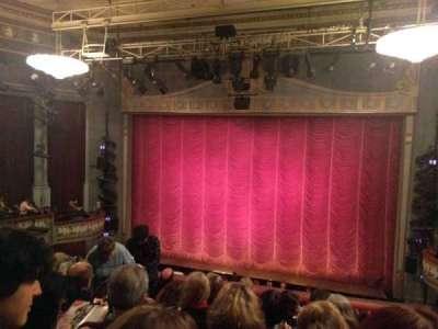 Broadhurst Theatre, section: Center Mezzanine, row: F, seat: 114