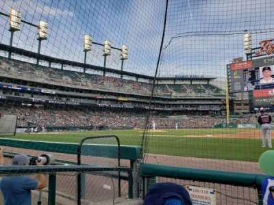 Comerica Park, section: 119, row: 3, seat: 16