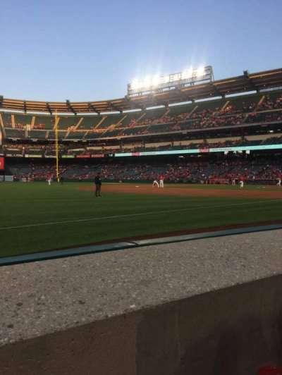 Angel Stadium, section: F108, row: A, seat: 3