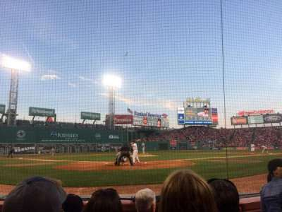 Fenway Park, section: F43, row: A, seat: 4