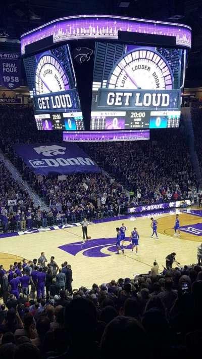 Bramlage Coliseum, section: 8, row: 22, seat: 8